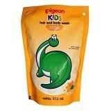 PIGEON Kids Wash Foam Orange Mango 350ml [PR070202] - Sabun Mandi Bayi dan Anak